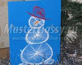 1351435101_1 Снеговик своими руками на Новый год из подручных материалов