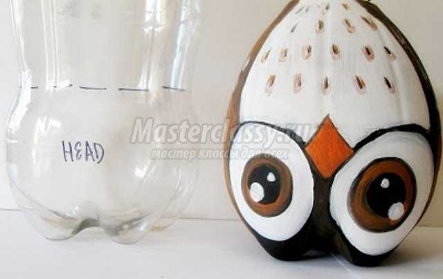 Поделка пингвинов из пластиковых бутылок 539
