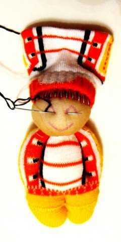 Кукла из носочка. Спортсмен. Мастер класс с пошаговыми фото