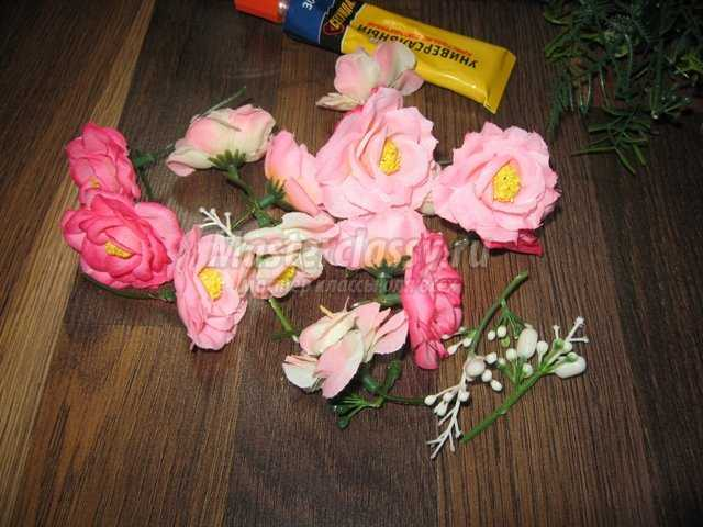 Как сделать из салфеток горшок с цветами 100