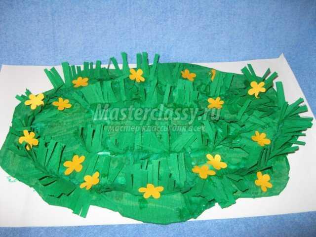 Как своими руками сделать траву из бумаги