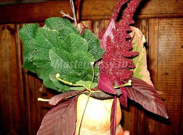Поделки из природного материала. Осенняя икебана. Мастер класс с пошаговыми фото