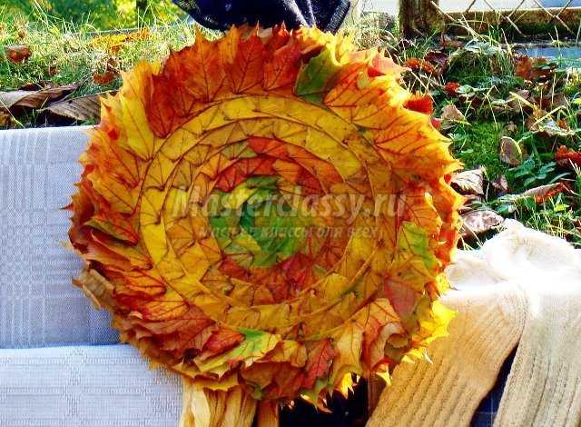 Венок из листьев своими руками фото 449