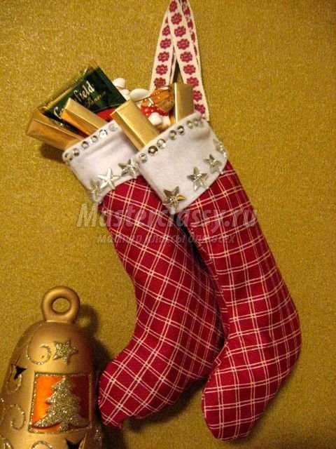 Сапожки на рождество своими руками