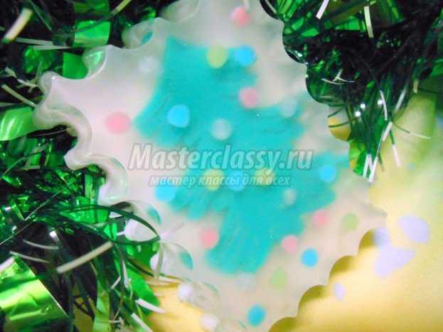 Новогоднее мыло подарочное с ёлочкой и конфетти