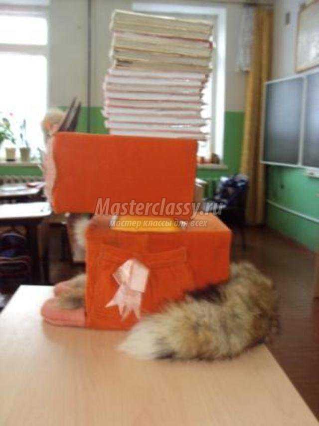 объёмная игрушка из коробок. Лисичка - сестричка. Мастер класс с пошаговым фото