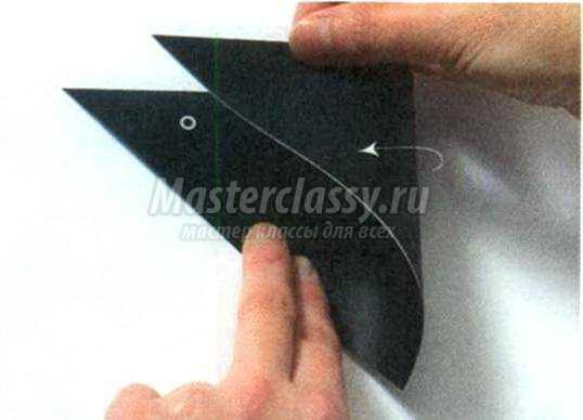 Как сделать из бумаги клюв вороны