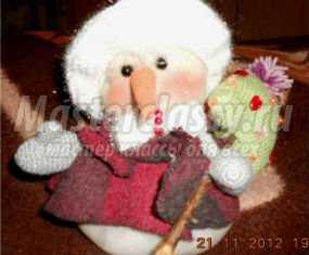 1353707223_anons99 Снеговик своими руками на Новый год из подручных материалов