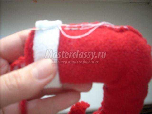 елочная игрушка из флиса – новогодний сапожек. Мастер класс с пошаговым фото