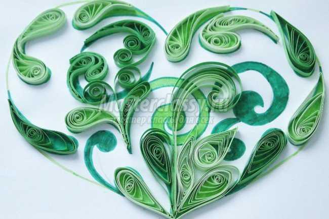 Сердце квиллинг