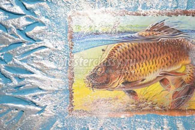 декупаж панно для рыбака