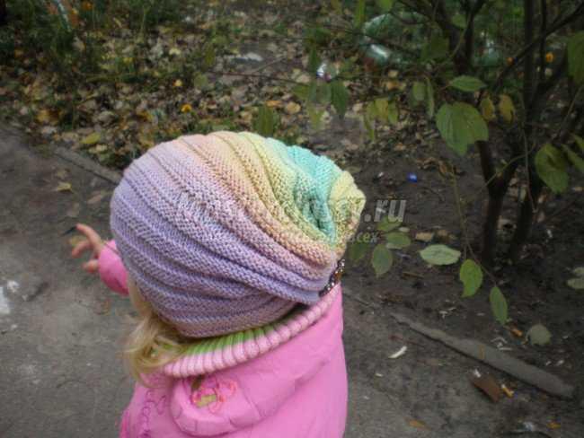 детская шапочка вязаная спиральным узором мастер класс с пошаговыми