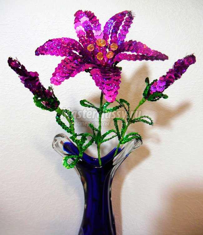 Бисероплетение лилии мастер класс пошаговое 31