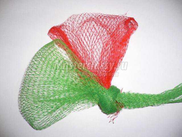Цветы из гофрированной мастер класс с пошаговым 18