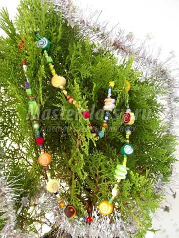 Гирлянда на елку из фетра своими руками