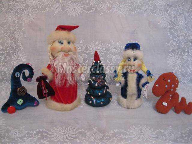новогодняя композиция. Дед Мороз и Снегурочка