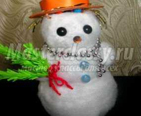 1354834947_anons640x853 Снеговик своими руками на Новый год из подручных материалов