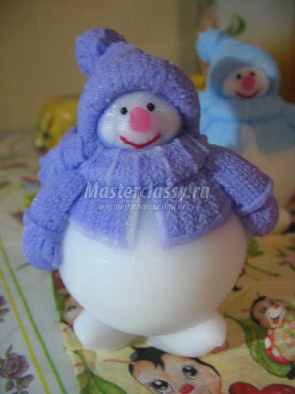 Снеговик из растишки своими руками фото 188