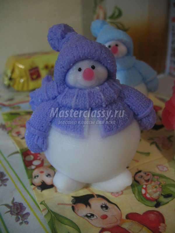 Мыло снеговик своими руками