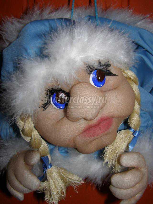 каркасная кукла зима в технике скульптурный текстиль