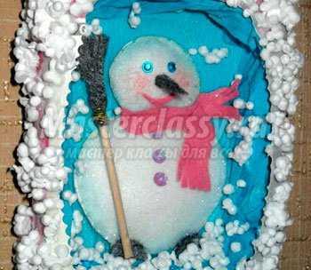 1355482419_1 Снеговик своими руками на Новый год из подручных материалов