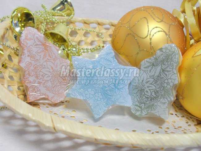 Мыло Новогоднее»с использованием текстурного листа