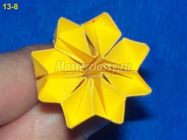 Сердцевина цветка кактуса оригами
