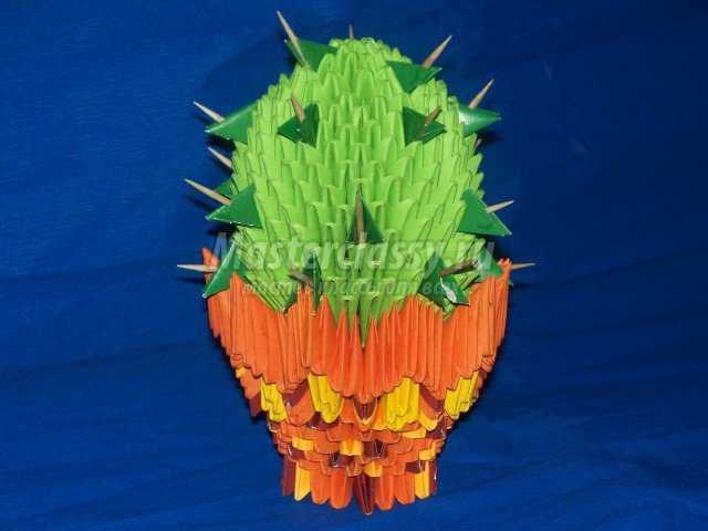 Модульно оригами – кактус