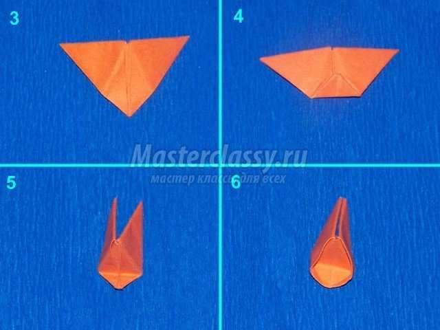 Основной цветок кактуса оригами