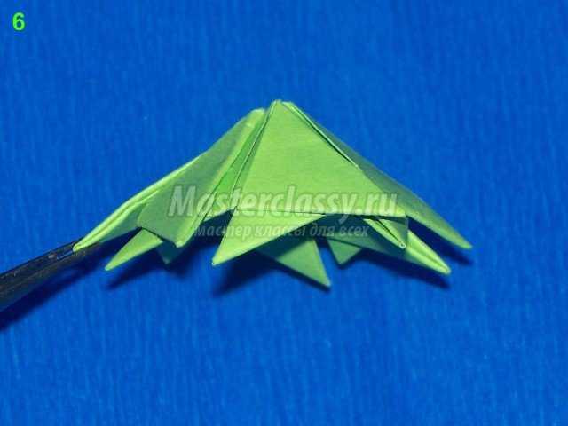Чашелистик цветка кактуса оригами