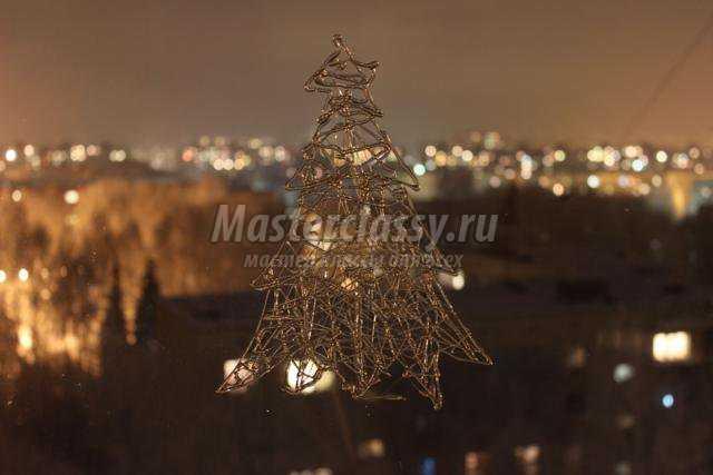 новогодний декор витрины своими руками
