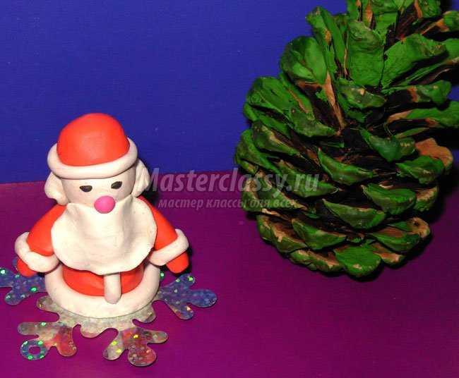 Дед Мороз из пластилина