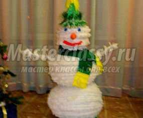 1355843634_anons640x480 Снеговик своими руками на Новый год из подручных материалов