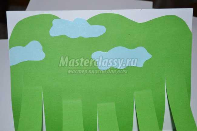 Летняя открытка из бумаги с цветами