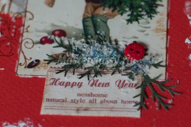 Скрапбукинг Новогодняя открытка