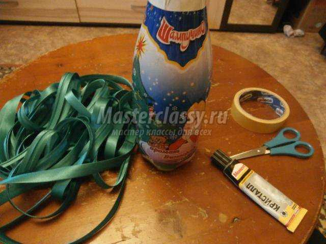 Фото декупаж бутылки мастер класс 4