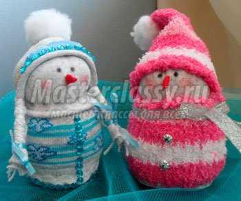 1356249398_1 Снеговик своими руками на Новый год из подручных материалов