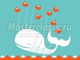 Квиллинг открытка с китом