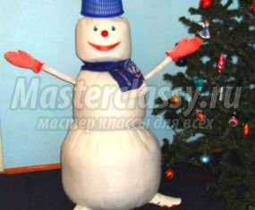 1356651278_anons Снеговик своими руками на Новый год из подручных материалов