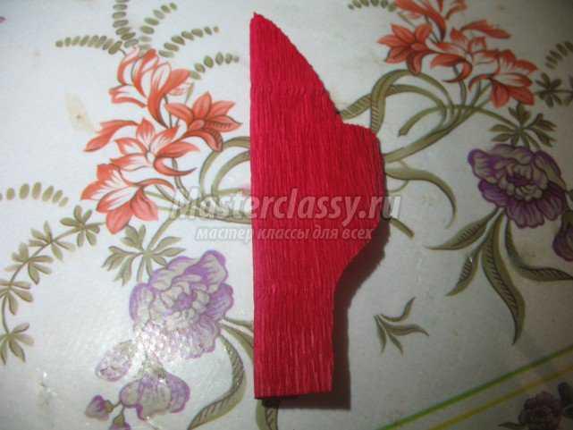 Рождественский цветок - пуансетия для букета из конфет
