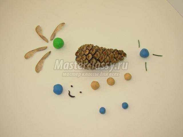 поделки из природных материалов с детьми. Вертолет