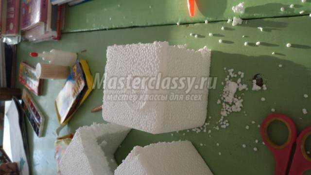 Как сделать поделку из пенопласта фото 148