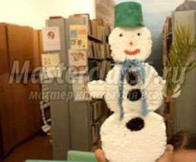 1357908407_anons Снеговик своими руками на Новый год из подручных материалов