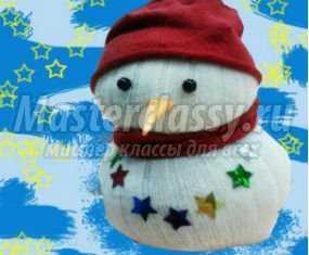 1357910265_anons Снеговик своими руками на Новый год из подручных материалов
