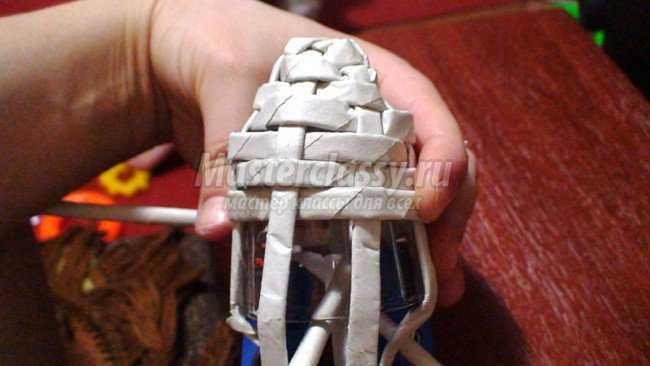 Колокольчик из бумажных трубочек
