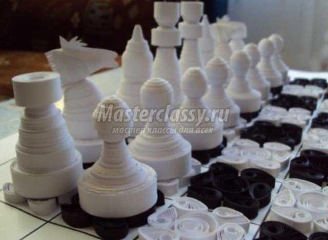 Шахматы своими руками из бумаги
