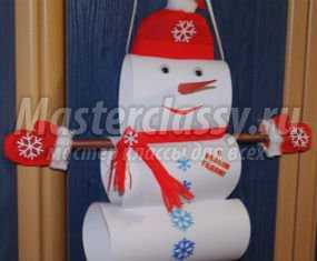 1358116220_anons Снеговик своими руками на Новый год из подручных материалов