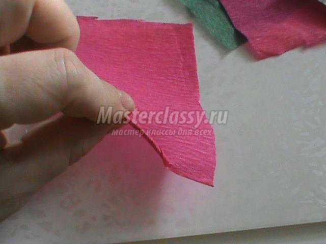 елочка из гофрированной бумаги