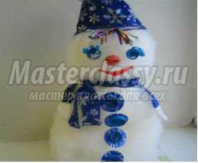 1358127780_anons Снеговик своими руками на Новый год из подручных материалов