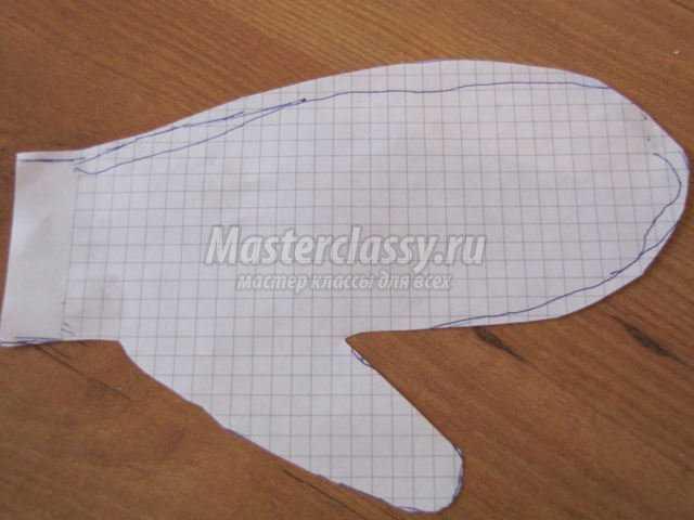 елочная игрушка из бумаги варежка